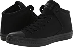 bef641725ed1 Black Black Black. Converse. Chuck Taylor® All Star® High Street Mono  Canvas Hi