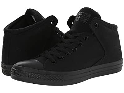 Converse Chuck Taylor(r) All Star(r) High Street Mono Canvas Hi (Black/Black/Black) Lace up casual Shoes