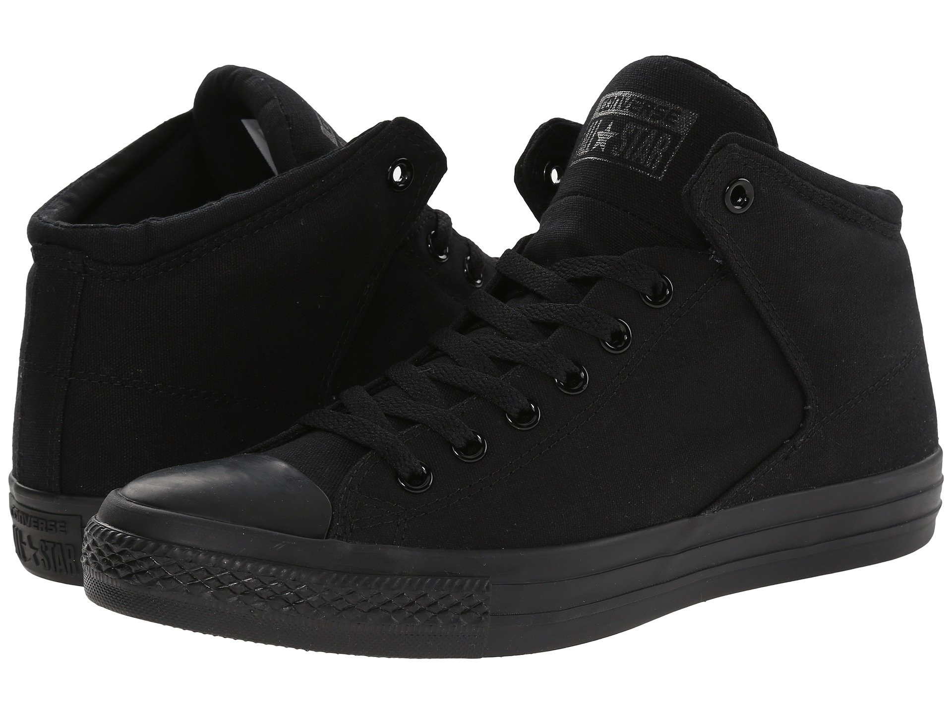 e0d4326cbfde38 Black Black Black. Converse. Chuck Taylor® All Star® High Street Mono Canvas  Hi