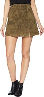 ]]]]] Blank NYC Womens Olive Green Mini Skirt with Side Slit in Bank Roll