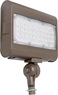 Westgate Lighting LED Flood Light with Knuckle Mount - Security Floodlight Fixture for Outdoor Yard Landscape Garden Lights - Safety Floodlights - UL Listed (50 Watt 5000K Cool White)
