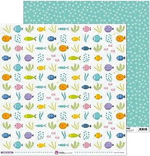 Anita y Su Mundo Collection Sous la mer Papiers de Scrapbooking, Paper, Poissons, 30,5 x 30,5 cm