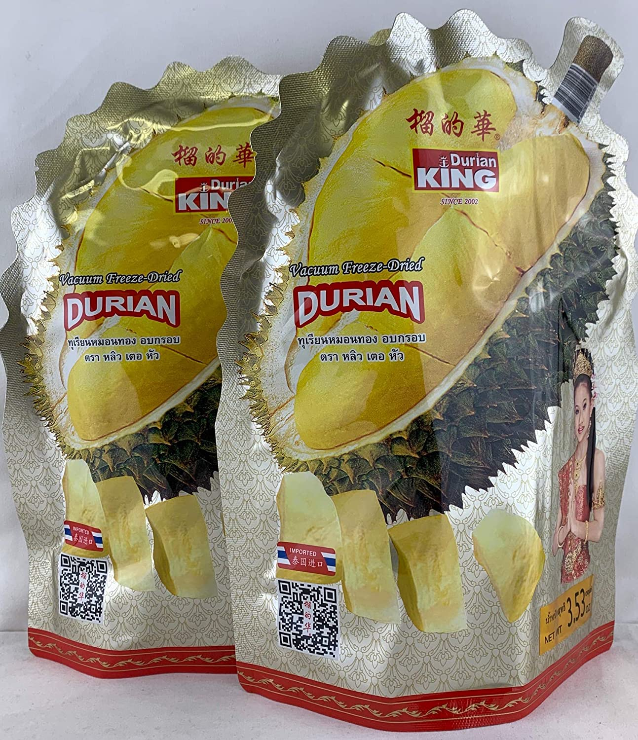 Durian Seattle Max 67% OFF Mall KING Vacuum Freeze Dried Fruit - Monthong Chunk