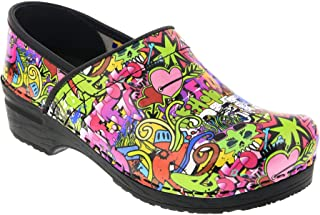 Bjork Professional Graffiti Limited Edition Leather Clogs