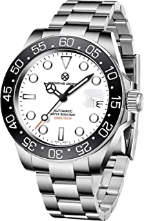 Fashion Mens Analogue Automatic Mechanical Watches for Men with Stainless Steel Strap