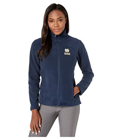 Columbia College Notre Dame Fighting Irish CLG Give and Gotm II Full Zip Fleece Jacket (Collegiate Navy) Women