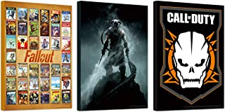 """Video Game Poster Set ~ Bundle Includes 3 Mounted Prints (8""""x11""""x.2) Featuring Call of Duty, Elder Scrolls, and Fallout (V..."""