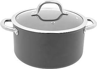 OGO LIVING 7930145Olla Daily Chef inducción, Aluminio, Negro, 20cm