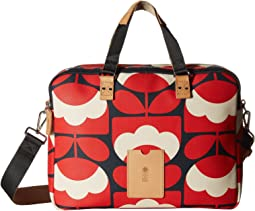 Spring Bloom Vinyl Luggage Work Bag
