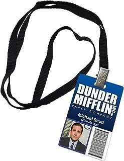 Michael Scott Dunder Mifflin Inc. Novelty ID Badge Prop Costume