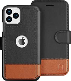 LUPA iPhone 11 Wallet Case -Slim iPhone 11 Flip Case with Credit Card Holder, for Women & Men, Faux Leather i Phone 11 Purse Cases with Magnetic Closure, Smoky Cedar