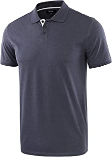 Men's Casual Athletic Regular Fit Short Sleeve Jersey Polo Sport Shirt