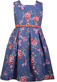 Bonnie Jean Girls Easter Church Holiday Floral Dresses for Special Occasions