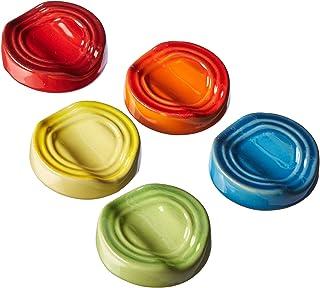 Le Creuset PG0005CB-02MC Stoneware Chopstick Rest Set, Set of 5, Multi-Colored