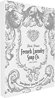 Stupell Home Décor French Laundry Soap Co Filigree Stretched Canvas Wall Art, 16 x 1.5 x 20, Proudly Made in USA