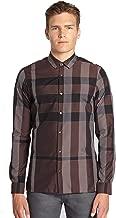 BURBERRY Men's Pulbury Check L/S Cotton Sport Shirt in Elderberry