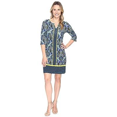 Hatley Peplum Sleeve Dress (Ornate Paisley Rainforest) Women