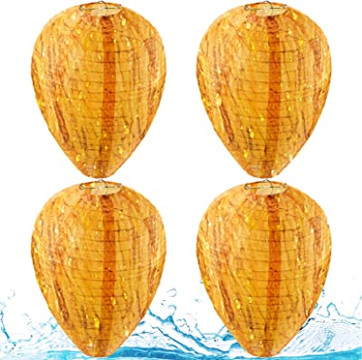 Yolyoo 4 Pieces Waterproof Wasp Nest Decoys Hanging Wasp Deterrents Fake Cloth Non-Toxic Bee Decoy Deterrent for Home and Garden Outdoors