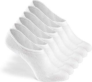 Calcetines invisibles 6 paquetes, calcetines para mujeres y hombres, calcetines unisex, invisibles y antideslizantes, que no se muestran, hechos de algodón