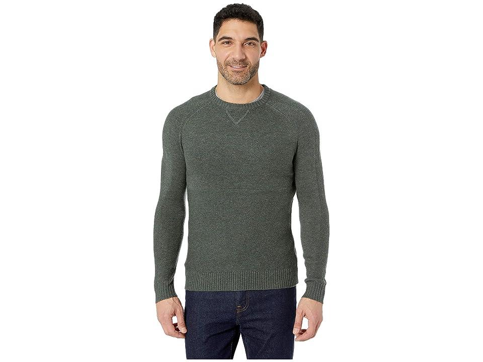 Smartwool Ripple Ridge Crew Sweater (Scarab Heather/Medium Gray Heather) Men