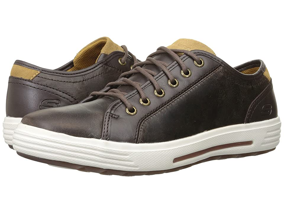 SKECHERS Classic Fit Porter Ressen (Dark Brown Leather) Men