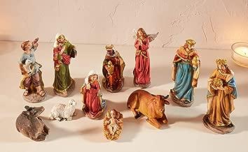 Krippenfiguren Set 11 teilig Weihnachten Kindergesicht Krippe Figur Maria Josef