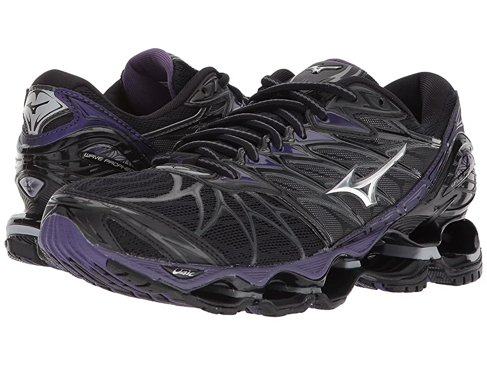 Mizuno Wave Prophecy 7 (Black/Silver) Girls Shoes
