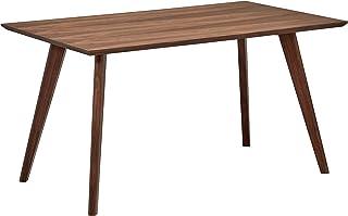 Marca Amazon -Rivet - Mesa de comedor minimalista estilo Mid-century 1348 cm de ancho (nogal)