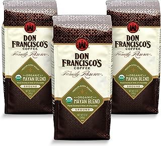 Don Francisco's Organic Mayan Blend Ground Coffee, 100% Arabica (3 x 12-ounce bags)