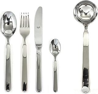 Mepra 102422049 Flatware Set, [49 Piece, Metallic Finish, Dishwasher Safe Cutlery