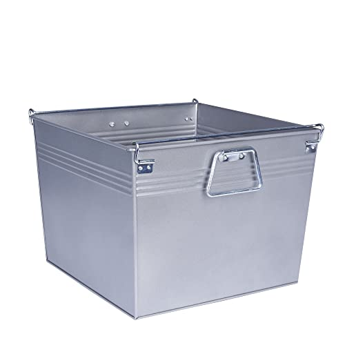 Household Essentials Decorative Metal Storage Bin Gunmetal