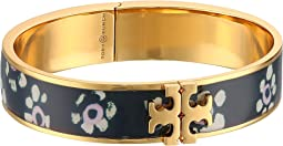 Tory Burch - Raised Logo Printed Hinge Bracelet