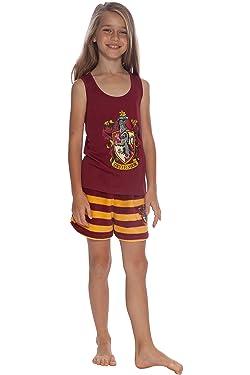 Harry Potter Girls Gryffindor Racerback Pajama Short Set