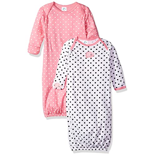 dde22fca4 Gerber Baby Girls' 2-Pack Gown