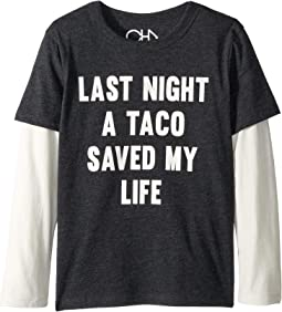 Extra Soft Tacos Saved My Life Twofer Tee (Little Kids/Big Kids)