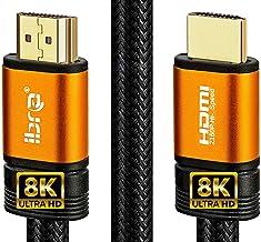 Câble HDMI de Orange IBRA 2.1 8K à très Haut débit, 48 Gbps | Prend en Charge 8K@60HZ,4K@120HZ,4320p,Compatible avec Fire ...