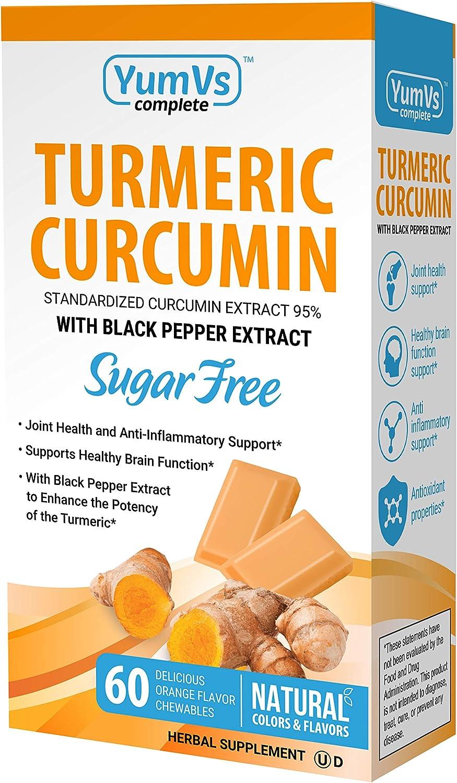 YumVs Complete Turmeric Curcumin Sugar-Free Orange Supplements Indianapolis Mall Same day shipping