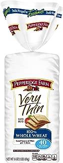 Pepperidge Farm Very Thin Sandwich Bread 100% Whole Wheat, 16.0 Ounce, 2 Pack