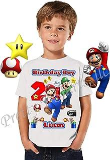 Mario Birthday Shirt, Add Any Name and Age, Birthday Boy Shirt, Family Matching Shirts, Super Mario Shirt, Mario and Luigi, Birthday Shirt Super Mario, Visit Our Shop