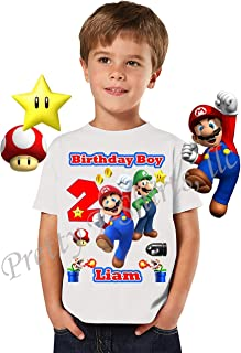 Mario Birthday Shirt, Add Any Name and Age, Birthday Boy Shirt, Family Matching Shirts, Super Mario Shirt, Mario and Luigi, Birthday Shirt Super Mario, Visit Our Shop