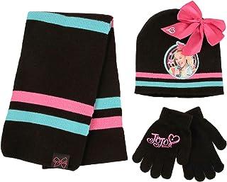 کلاه هوای سرد ، روسری و دستکش Nickelodeon JoJo ، سیاه ، دختران ، سنین 4-7 سال