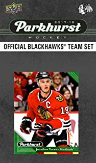 Chicago Blackhawks 2017 2018 Upper Deck PARKHURST Series Factory Sealed 10 Card Team Set including Patrick Kane, Corey Crawford, Jonathan Toews, an EXCLUSIVE Blackhawks Team Card Plus