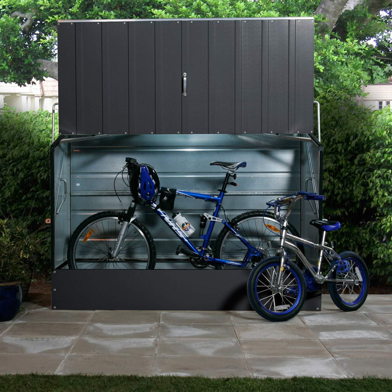 Tepro Caja para guardar bicicletas, color antracita: Amazon.es: Jardín