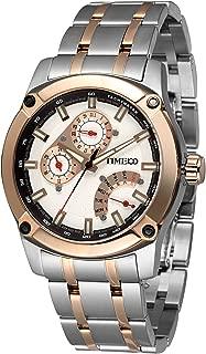 Time100 Men's Fashion Multifunction Steel Strap Business Watch Japan Miyota Quartz Watches