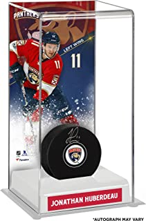 Jonathan Huberdeau Florida Panthers Autographed Puck with Deluxe Tall Hockey Puck Case - Fanatics Authentic Certified