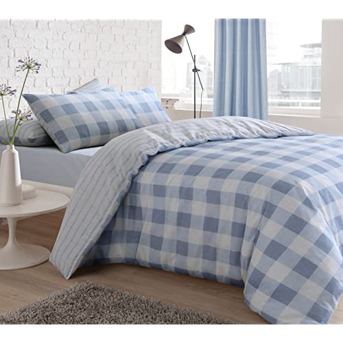 958b6e6152e13 EHD Gingham Check Luxurious Modern Style Duvet Cover Sets Quilt Cover Sets  Reversible Bedding Sets With