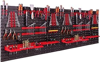 Opslagsysteem, wandrek, 230 x 78 cm, gereedschapshouders, opbergkast, extra sterke wandplaten, uitbreidbaar, werkplaatsre...
