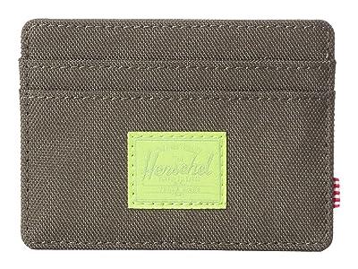 Herschel Supply Co. Charlie RFID (Dark Olive/Lime Green) Wallet Handbags