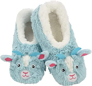 Snoozies Womens Slippers Furry Foot Pals | Animal Slippers for Women | Womens Animal Slipper Socks | Fuzzy Slippers with Soft Soles | Multiple Sizes, Colors, and Animals