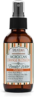 Shea Terra Organics Moroccan Orange Blossom Beauty Water   Hydrating Facial Toner to Nourish Skin and Promote Acne Control - Paraben and Alcohol Free Neroli Water - 4 oz